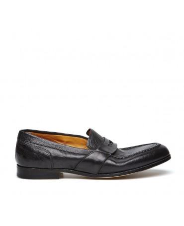Grintoso Mocassino Barracuda Stile Vintage nero da uomo
