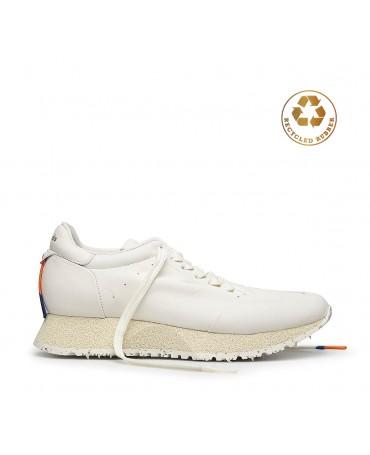 Barracuda ROCKET sneaker in white calfskin