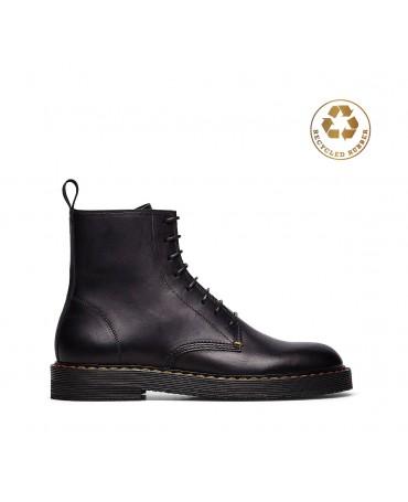 Barracuda ankle boot in soft black calfskin for men